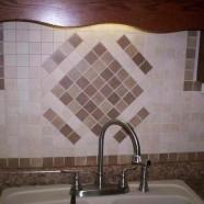 Kitchen – Installed Ceramic Tile Backsplash